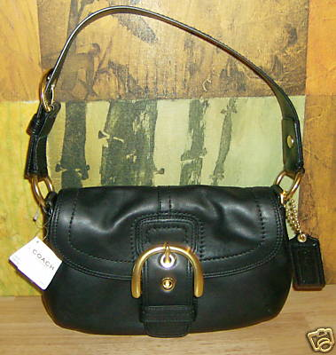 Black Leather Hobo Purse Style 11840