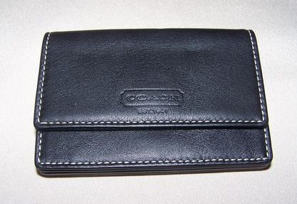 Coach Black Leather ID Card Holder
