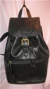 Coach Black Leather Vintage Backpack Purse