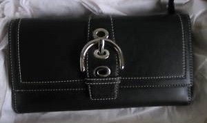 COACH Classic Black Leather Wallet
