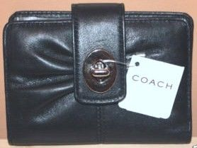 Coach Black Leather Wallet 42446