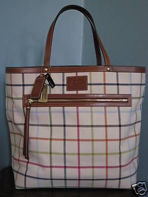 Coach Bleeker Tattersall Travel Tote 11481