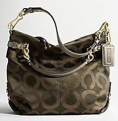 Coach Brooke Op Art Sateen Lurex Large Purse