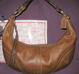 Coach Brown Dylan X Large 20 inch Hobo Bag with Braided Strap