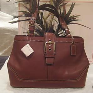 Coach Brown Leather Satchel Handbag