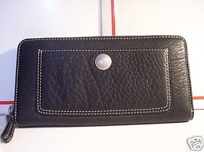 Coach Chelsea Pebble Leather Zip Around Accordian Wallet