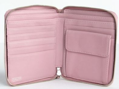 Coach Chelsea Zip Around Clutch Wallet Inside View Blush Pink