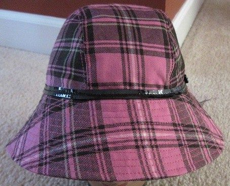 Coach Crusher Bucket Hat Pink Plaid