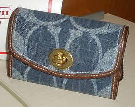 Coach Denim Mini Wallet