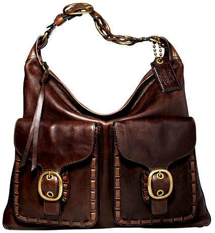 Coach Elisa Laced Leather Slim Duffle