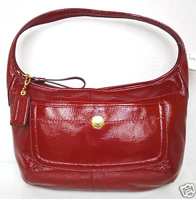 Coach Ergo Red Patent Leather Hobo Bag 12886