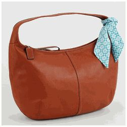Coach Ergo Saddle Brown Zippered Hobo Bag