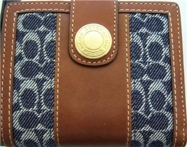 Coach Ergo Signature Denim i-Fold Mini Wallet 41741