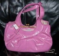 Coach Ergo Pink Patent Frame Satchel Purse