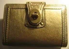 Coach Gold Leather Slip Jacket Day Planner