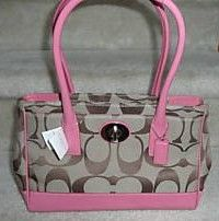 COACH Hamptons Madeline TotePurse Khaki Pink 13571