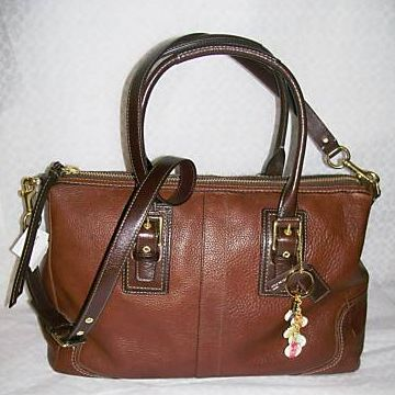 COACH Hamptons Leather Satchel 12444