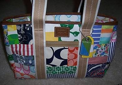 Coach Hamptons Patchwork Tote