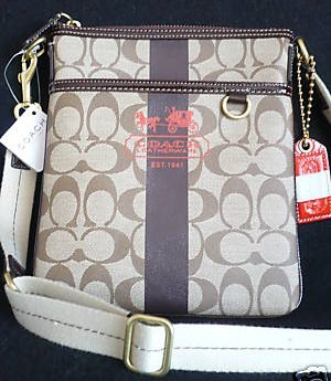 Coach Heritage Signature Swingpack 40924