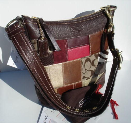 Coach Holiday Patchwork Duffle