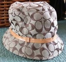Coach Khaki Signature Bucket Hat