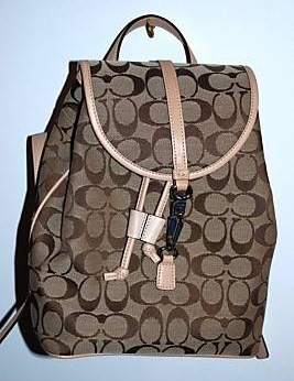Coach Ladies Signature Backpack