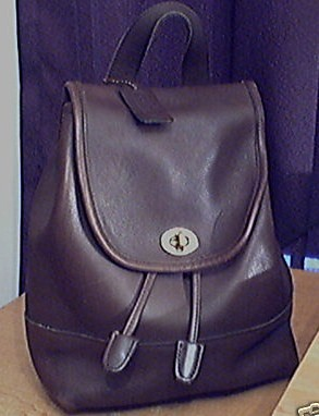 Coach Leather Backpack Chocolate Brown