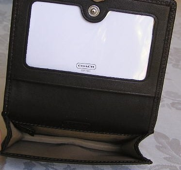 Coach Leather Card Case Inside