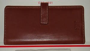 Coach Leather Card ID Wallet Closed Front 41790