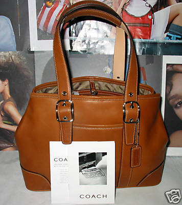 Coach Leather Carryall Tote British Tan