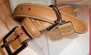Coach Leather Dog Collar Doe Color