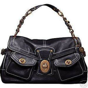 Coach Leather Legacy Leigh Purse Black 11128