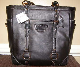 Coach Leather Lunch Tote Brown 11524