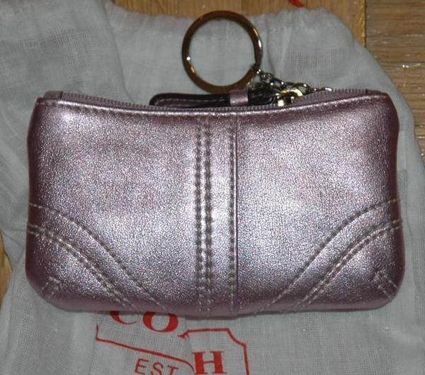 Metallic Leather Mini Skinny Lilac