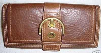 Coach Leather Wallet Saddle Brown