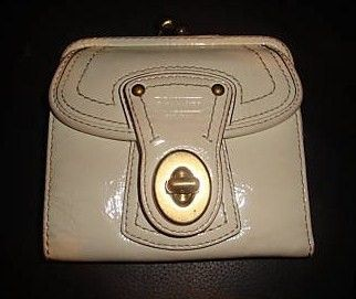 Coach Legacy Leather French Purse Wallet Style 41505 White