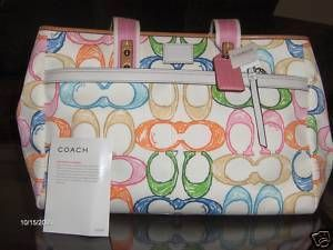 Coach Lg Scribble Tote