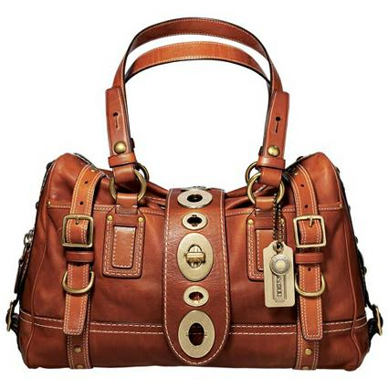 Coach Lily Leather Satchel
