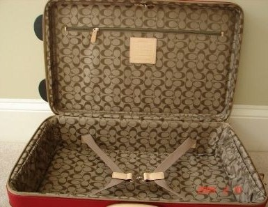 Coach Luggage Inside Lining 5955