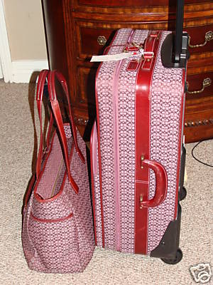 Coach Luggage and Carry on Bag Set Mini Signature Pink