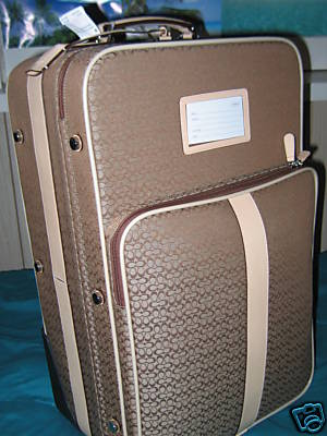 Coach Luggage on Rollers Khaki