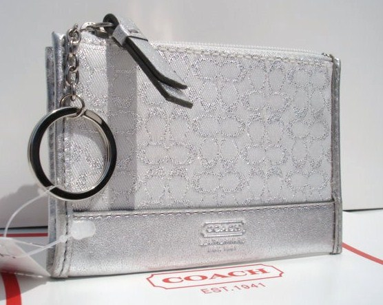 Coach Lurex Mini Signature Silver