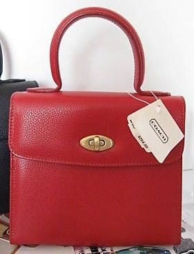 Coach Madison Gracie Blood Red Purse Style 4413