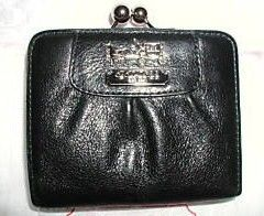 Coach Madison Leather Framed French Wallet 41973