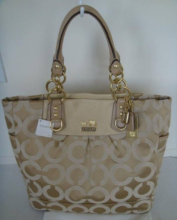 COACH Madison OP Art Magazine Tote Bag