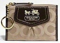 Coach Madison OP Art Sateen Mini Skinny Wallet Khaki 43252
