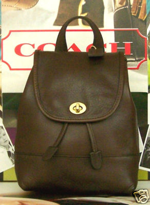 Coach Mahogany Leather Backpack