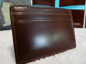 Coach Mahogany Leather ID Card Holder