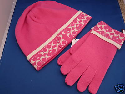 Coach Merino Wool Glove Hat Set