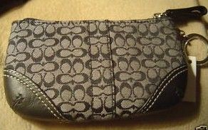 Coach Med Mini Signature Coin Purse with Key chain